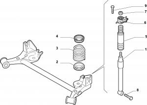 REAR SHOCK ABSORBERS AND SPRINGS