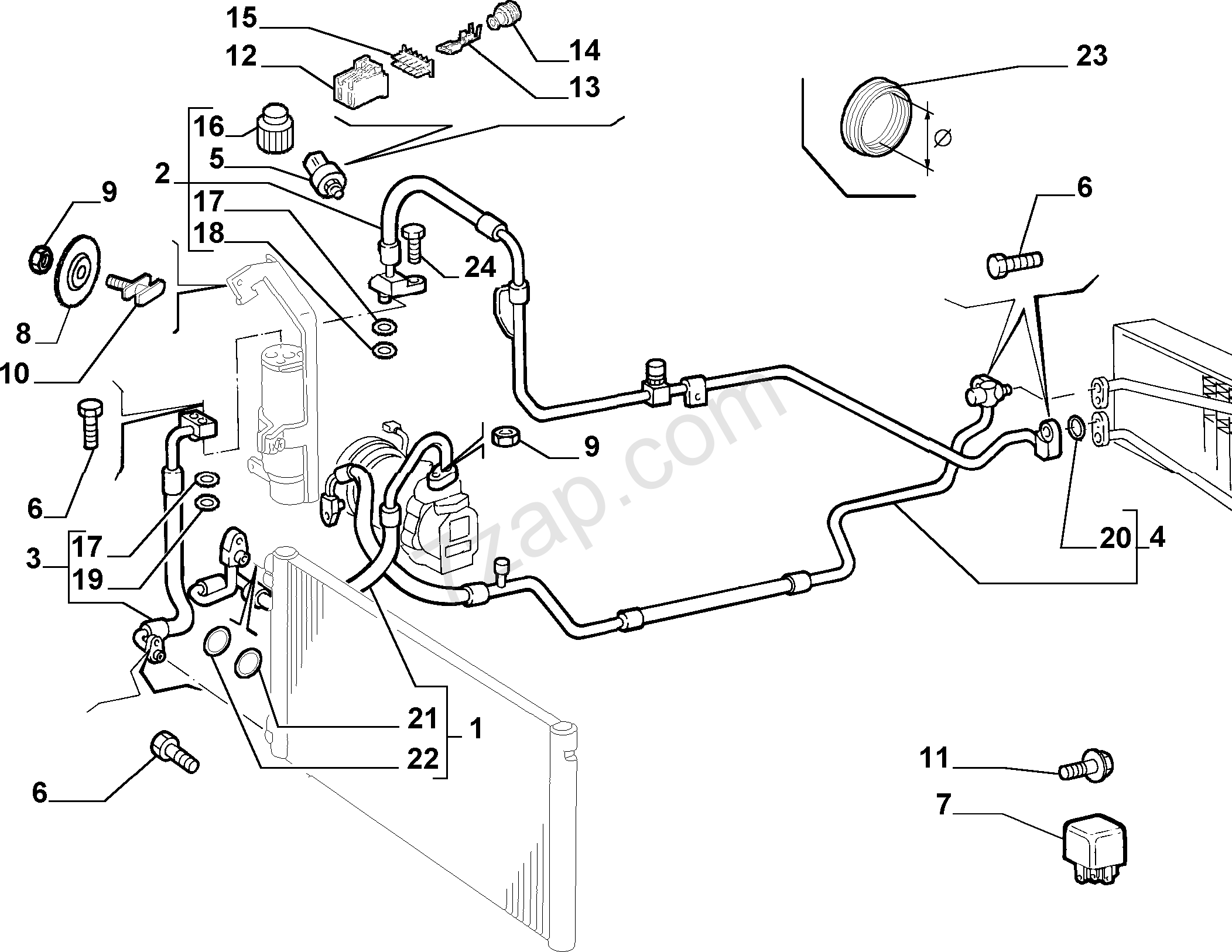 fiat punto hose diagram  fiat  auto parts catalog and diagram